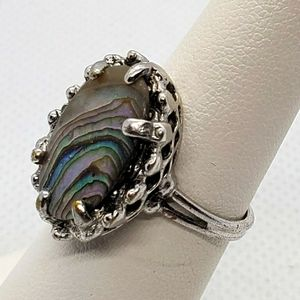 Vintage Abalone Shell Ring